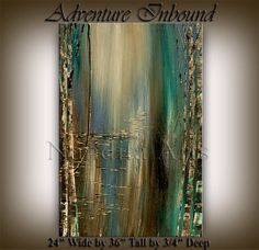 Original Acrylic Abstract Landscape Painting Modern ABSTRACT PAINTINGS Art for Sale LARGE modern art fine art Nandita on Etsy, $229.00