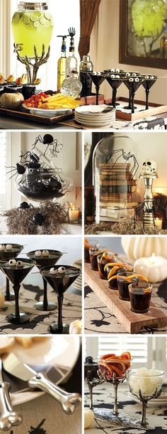 If you're hosting Halloween at your house this year then you have to check out these DIY Halloween cocktail party ideas.