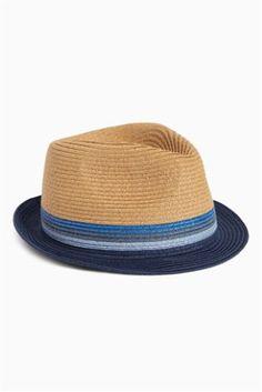 Stone Colourblock Trilby Hat Code: 368-020 Price: £12