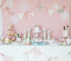 Vintage Doily Inspired Dessert Table Dessert Table