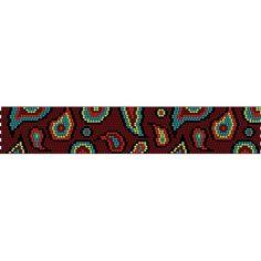 Crazy Paisley Peyote Pattern   Fusion Beads Inspiration Gallery