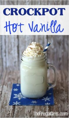 Crockpot Hot Vanilla Recipe! ~ from TheFrugalGirls.com ~ this delicious drink will warm you to the toes ~ perfect for parties or a chilly day! #slowcooker #recipes #thefrugalgirls