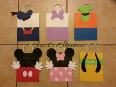 12 Mickey mouse clubhouse goody bags/mickey and por SuchisStudio