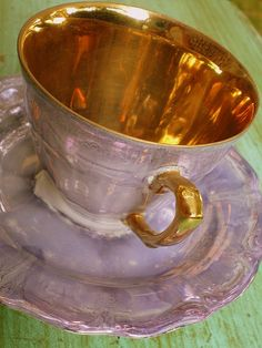 Polish Tea Cup and Saucer by stelladanza's confections,