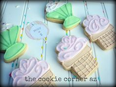 Ice-cream cookies for an ice-cream themed birthday party!