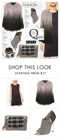 """""""Shift dress by Zaful 19"""" by deeyanago ❤ liked on Polyvore featuring MICHAEL Michael Kors, women's clothing, women's fashion, women, female, woman, misses, juniors, GetTheLook and winterstyle"""