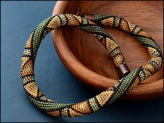 Bead Crochet Necklace Summer Jungle by Chudibeads on Etsy