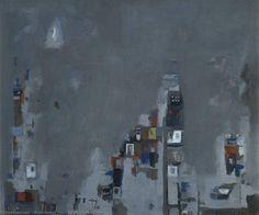 la lune, huile sur toile de Maria Helena Vieira Da Silva (1908-1992, Portugal)