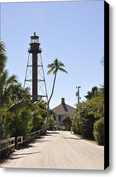 Sanibel Lighthouse Stretched Canvas Print / Canvas Art By Frank Williams