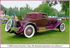 1928 Isotta-Fraschini. I asked my hubby if I could have one of these for my anniversary.............. He went to work.