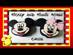 Mickey Mouse Cake AND Minnie Mouse CAKE! - How to make from Creative Cakes by Sharon - YouTube