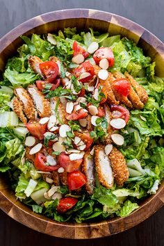 Honey Mustard Chicken Chopped Salad   thecozyapron.com