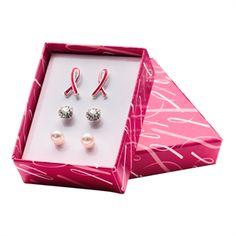 Breast Cancer Awareness Earring Gift Set