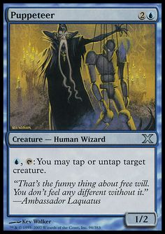 Puppeteer - Creature - Human Wizard - Water Droplet - Blue - 10TH Edition - Magic The Gathering Trading Card