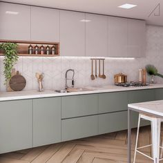 The most popular colors of 2020 in the interior. The most popular colors of 2020 in the interior. The most popular colors of 2020 in the interior This Kitchen Room Design, Kitchen Dinning, Modern Kitchen Design, Home Decor Kitchen, Interior Design Kitchen, Kitchen Furniture, Home Kitchens, Studio Kitchen, Modern Kitchen Interiors