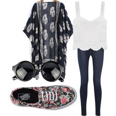 A fashion look from August 2015 featuring J Brand jeans and Vans sneakers. Browse and shop related looks.