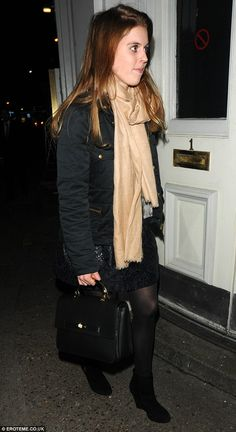 Princess Beatrice has dinner with her parents.