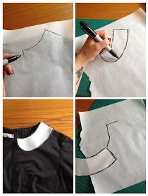 Sewing the 60s: Tutorial - Peter Pan collar and cuffs