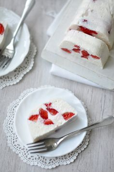 Csak a Puffin Strawberry Desserts, No Bake Treats, Panna Cotta, Nom Nom, Bakery, Gluten Free, Snacks, Cookies, Ethnic Recipes