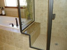 Beautiful tile shower and tub surround by Floor Craft in Colorado Springs, CO. (719) 633-7724 www.floorcraft.us www.facebook.com/FloorCraftLLC Tub Surround, Bathroom Remodeling, Colorado Springs, Shower Ideas, Tile, Bathtub, Flooring, Facebook, Craft