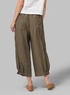 MISSY Clothing - Linen Front Pleated Pants