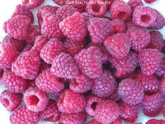 Raspberries ~ from Trader Joe's today ~ perfectly ripe and fragrant! Photo © 2013 Ann M. Del Tredici