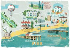 Anna Simmons - Map of Bournemouth for Coast magazine