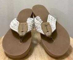 Eliza B Ivory Macrame Flip Flops