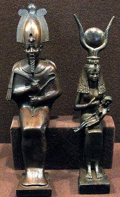 Hellig astronomi: Den egyptiske triade Osiris, Horus-barnet og Isis – eller Faderen, Sønnen og Moderen – som de første kristne kopierede og kaldte Faderen, Sønnen og Helligånden. Faderen symboliserer ånden, Moderen symboliserer stoffet (æteren) og Sønnen symboliserer bevidstheden.