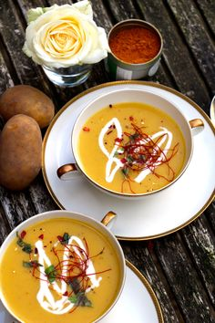 Kartoffel-Mango-Suppe