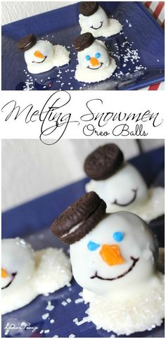 Melting Snowmen Oreo Balls Recipe! Easy Holiday Recipe, Christmas Recipe, or Snow Recipe!