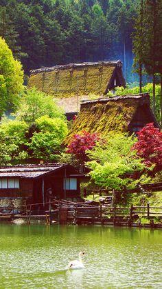 {Hida Folk Village, the mountainous district of Gifu Prefecture around Takayama, Japan} Gifu, Kyushu, Kanazawa, Nagano, Okinawa, Places Around The World, Around The Worlds, Beautiful World, Beautiful Places