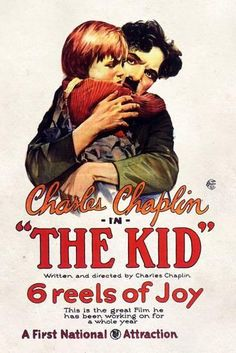 French Charlie Chaplin Le Gosse Movie Poster A3//A4 Print