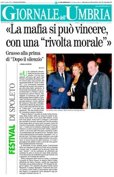 """6 luglio 2013 - Il Giornale dell'Umbria - la cronaca della prima rappresentazione dello spettacolo """"Dopo Il Silenzio"""" al Festival di Spoleto 2013 - di Paola Cintio"""