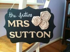 For the brides' chair at a bridal shower!