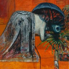 Figure Study II by #FrancisBacon // In what would become a typical set-up for Bacon this crouching bare animal-man seems penned in overwhelmed by his clothes and the room in which he is enclosed. He has been reduced to base essentials  the violent maw the grotesque sexualised head and limbs. All this figure can do is howl like an animal in agony  like the shrieking nurse from Eisensteins film Battleship Potemkin or the colour photographs of diseased mouths in a dentistry book that famously…