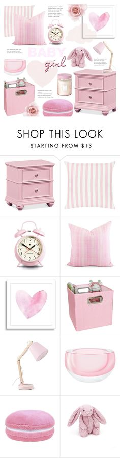 """Baby Girl Room: All Pink! :)"" by alexandrazeres on Polyvore featuring interior, interiors, interior design, home, home decor, interior decorating, Newgate, West Elm, LSA International and Jellycat"