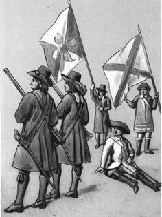 """""""German infantry"""" Janusz Radziwill regiment from 1633  Fig. B. Gembarzewski."""