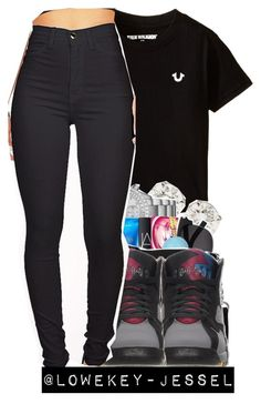 """Untitled #319"" by lowkey-jesselle ❤ liked on Polyvore featuring True Religion"
