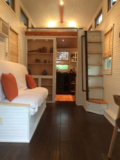 A 250 square feet (including loft) tiny house in Austin, Texas. Built by Ceige Taylor.