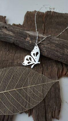 Handmade Sterling silver Butterfly pendant/necklace with hand pierced details Silver Pendant Necklace, Silver Necklaces, Jewelry Necklaces, Onyx Necklace, Garnet Necklace, Gold Pendant, Handmade Sterling Silver, Sterling Silver Pendants, Metal Jewelry