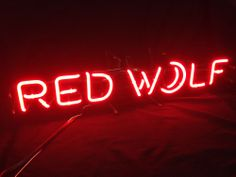 Authentic Red Wolf Moon Neon Beer Bar Sign Light Beer Man Cave Ideas