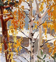 Ensi lumi First Snow Akseli Gallen-Kallela oil Nordic Art, Scandinavian Art, Painting Snow, Painting & Drawing, Landscape Art, Landscape Paintings, Art Et Illustration, Canadian Art, Winter Trees