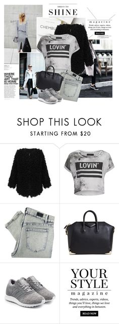 """""""Compromise in colours is grey"""" by emeliethorsell ❤ liked on Polyvore featuring adidas, Religion Clothing, Cheap Monday, Givenchy, adidas Originals, Pussycat and Levi's"""