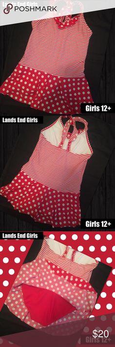 Lands End Girls 12+ Swimsuit one piece Lands End Girls 12+ Swimsuit one piece red and white Great condition no spots or picks Lands' End Swim One Piece