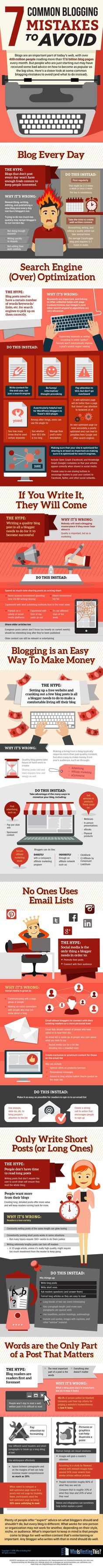 7 Common Blogging Mistakes to Avoid  [by WhoIsHostingThis -- via #tipsographic]. More at http://tipsographic.com