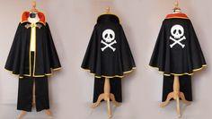 déguisement pirate cape, pantalon et cache oeil