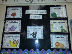 Decoding reading strategies - great to help kindergarteners