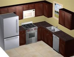 8 X 8 Kitchen Layout | Your Kitchen Will Vary Depending On The Size Of Your  Space, Cabinet .