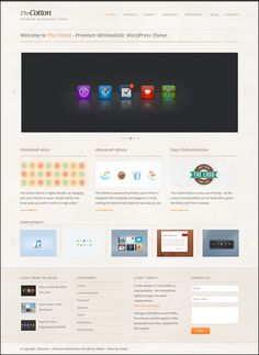 The Cotton – Minimalistic WordPress Business Theme Wordpress Theme Design, Premium Wordpress Themes, Site Design, Web Design, Blog Categories, Wordpress Template, Image Editor, Minimalist, Super Simple